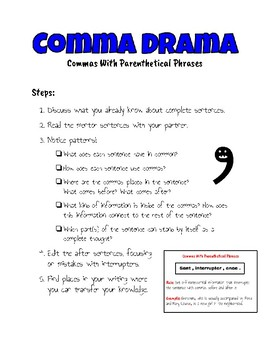 Commas with Parenthetical Phrases