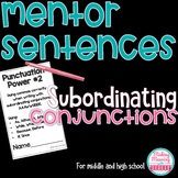 Mentor Sentences- Commas with AAAWWUBBIS - Middle-High Sch