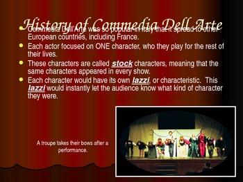 Commedia Del Arte Unit Power Point Presentation