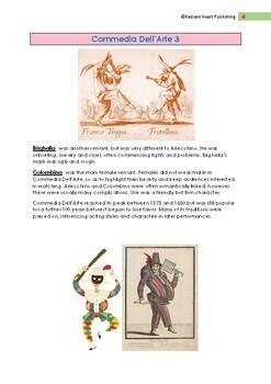 Commedia Dell'Arte Reading, Comprehension & Answers