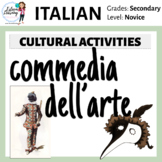 Commedia dell'Arte Lesson, Activities and Play