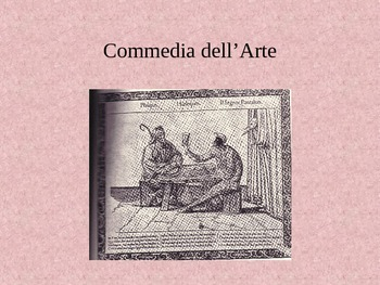 Commedia dell'Arte powerpoint