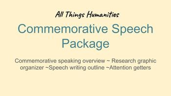 Commemorative Speech Package