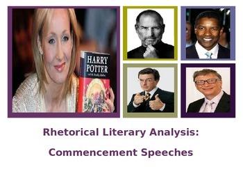 Commencement Speech Rhetorical Analysis Lesson