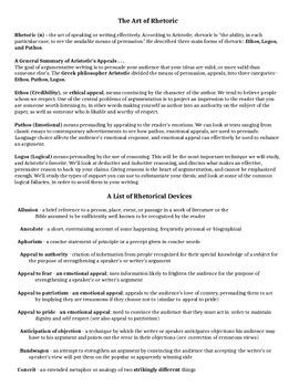 Commencement Speech Rhetorical Analysis Lesson Handout