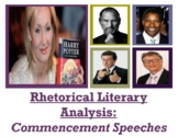 Commencement Speeches Rhetorical Analysis Unit (GOOGLE SLIDES)