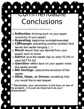 Commendable Conclusions