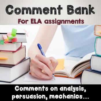 Comment Bank