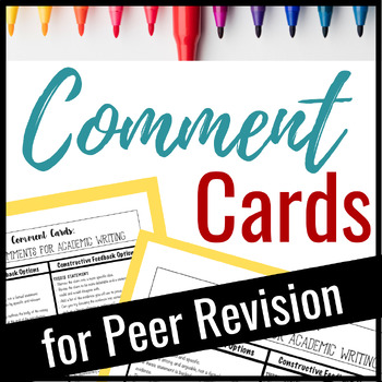Comment Cards for Academic Essay Writing: Helping Students Give Quality Comments