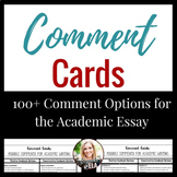 Comment Cards for Academic Essay Writing to Help Students