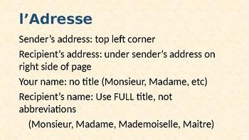 Comment Ecrire Une Lettre Francaise