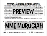 Comment Écrire les Nombres en Mots (FR)
