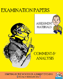 Comment and Analysis examination