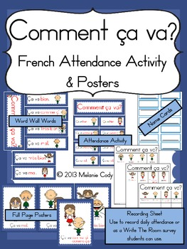 comment ca va french attendance activity by mlle cody tpt