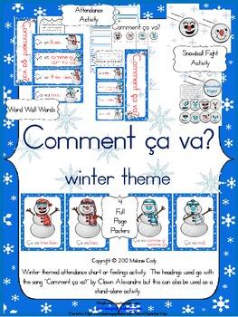 Comment ça va? Winter Activity / French Feelings Attendance Activity