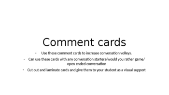 Comment cards