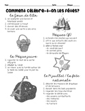 Comment célèbre-t-on les fêtes:  Vocabulary for French holiday celebrations