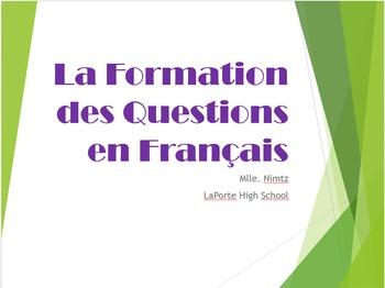 Comment écrire une question en français/ How to to form a