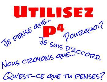"""Comment dit-on """"Think, Pair, Share"""" en français? Poster Set"""