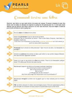 Comment écrire une lettre - Writing a letter in French