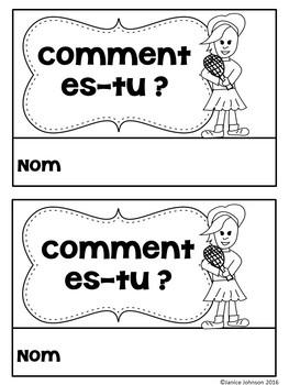 Comment es-tu ? French Verb ÊTRE Adjective Reader & Build-A-Book