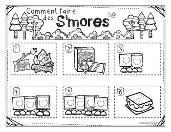 Comment faire des s'mores ☼ French Procedural Writing & Sequencing