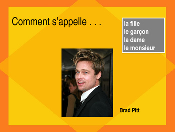 Comment s'appelle French Partner Speaking activity