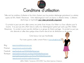 Commentaires de bulletin (Learning Skills Report Card Comments, French)