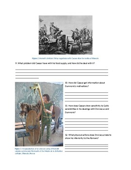 Commentaries on the Gallic War Questions for English Readings AP Latin