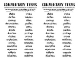 Commentary Terms