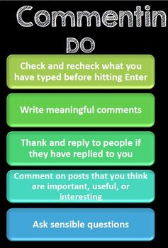 Commenting Etiquette Lesson Plan- Digital Citizenship