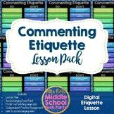 Commenting Etiquette Lesson Plan- Digital Citizenship
