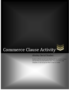 Commerce Clause Activity