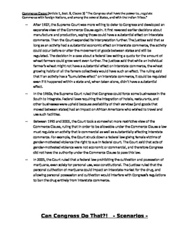 Commerce Clause Activity Packet