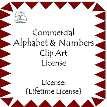 Alphabet & Numbers Clip Art - Commercial {LIFETIME LICENSE} - 303 PNG Images
