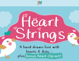 Commercial Font + Clip Art: Heart Strings