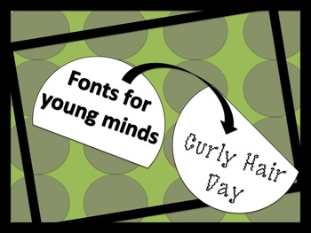 Commercial Font Curly Hair Font
