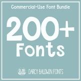 DJB Fonts - Font Bundle - Commercial Use of 215+ Fonts