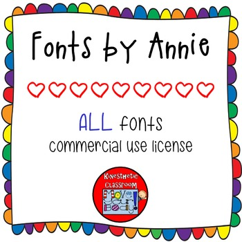 Commercial Font License: All Fonts by Annie for One User {Lifetime License}