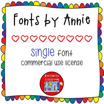 Commercial Font License: One Font by Annie {Lifetime License}