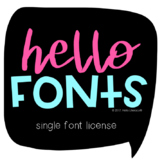 Commercial Font License: One Hello Font {Lifetime License}
