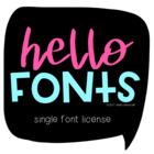 Commercial Font License: One Hello Font {Lifetime License}