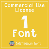 Commercial Font License - SINGLE FONT