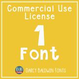 Commercial Font License - SINGLE FONT