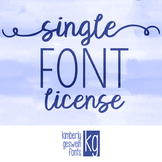 Font License- SINGLE FONT