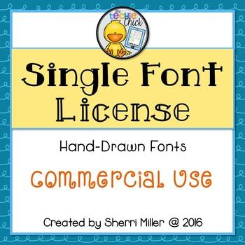 Commercial Font License: SINGLE TC Font