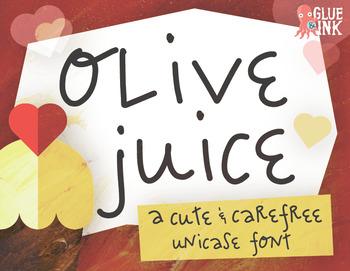 Commercial Font: Olive Juice
