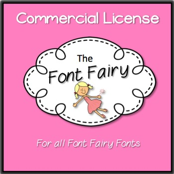 Commercial License - 'Font Fairy' Fonts {Educlips Clipart}