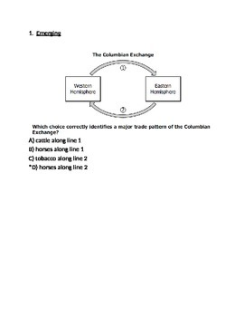 Commercial Revolution Test -- Respondus Format (World Civilizations II)