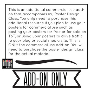 Commercial Use Add-on for my Poster Design Class